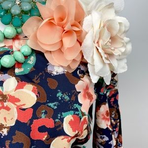 Ezra Floral Dress Belted Pullover Mini